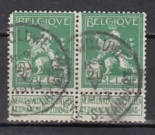 110 In Paar Gestempeld OP-WOLUWE - WOLUWE ST-LAMBERT - COBA 8 Euro - 1912 Pellens