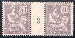 CHINE Millésime Mouchon 30 C Millésime 2 De 1903 Yv 28 Neuf Avec Trace De Charnière - Neufs