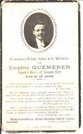 Souvenir De Eugène Quéméner Décédé En 1921. Photo J F A N Morlaix. - Faire-part