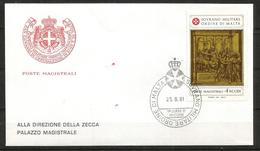 1981 SOVRANO ORDINE DI MALTA SMOM  Fdc Viaggiata, Bellissima - Sovrano Militare Ordine Di Malta
