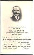 Souvenir De Paul Le Borgne Décédé En 1962. - Faire-part