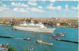 CPA-1960-ROTTERDAM-PAQUEBOT-ROTTERDAM-Cie HOLLANDE AMERICAN LINES-2013-Devient Hotel Flottant A RotterdamTBE-RARE - Paquebots