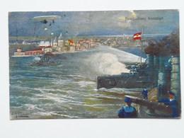 5202 Prima Guerra Pubblicitaria Militare 1916 Austria KUK Osterreich Beschiessung Vendig Venezia Pinx Hollerer - Guerre 1914-18