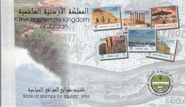 "2000 Jordan Historic Sites Archaeology Tourism  ""unexploded"" Booklet Carnet Complete MNH - Jordan"