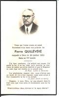 Souvenir De Pierre Quillévéré Décédé à Brest En 1955. - Faire-part
