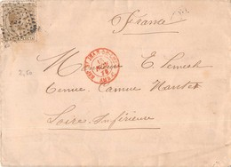 "Cachet  ""  ESP  Saint Jean De Luz "" AMB C - 1878 - Marcophilie - EMA (Empreintes Machines)"