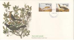 Bhutan 1985 FDC Scott #506, #508 Brewers Duck, Mountain Plover Audubon Birds - Bhoutan