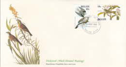 Belize 1985 FDC Scott #750, #751 White Tailed Kite, Cuvier's Kinglet Audubon Birds - Belize (1973-...)