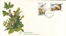 Bermuda 1985 FDC Scott #466, #467 Yellow Crowned Night Heron, Great Egret Audubon Birds - Bermudes