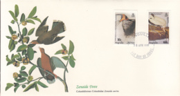 Anguilla 1985 FDC Scott #613, #614 Barn Swallow, Wood Stork Audubon Birds - Anguilla (1968-...)