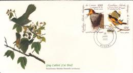 Comoro Islands 1985 FDC Scott #C139, #C140 Barn Swallow, Baltimore Oriole Audubon Birds - Comores (1975-...)