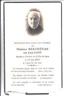 Souvenir De Madame Berthévas Née Anna Cueff à Kerlévic En Saint Pol De Léon En 1943 - Faire-part