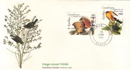 Central African Republic 1985 FDC Scott #C311, #C312 Screech Owl, Mangrove Cuckoo Audubon Birds - Centrafricaine (République)