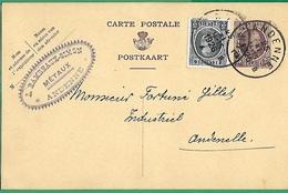 ! - Belgique - Entier Postal - Avec Cob 198 + 193 - Envoi De Andenne Vers Andenelle - 1926 - Cartes Postales [1934-51]