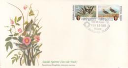Marshall Islands 1985 FDC Scott #64a Fork-tailed Petrel, Pectoral Sandpiper Audubon Birds - Marshall