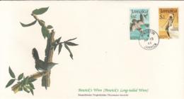 Jamaica 1985 FDC Scott #596, #597 Brown Pelicans Audubon Birds - Jamaique (1962-...)