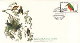 Mali 1985 FDC Scott #C512 Kingfisher Audubon Birds - Mali (1959-...)