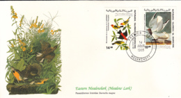 Mauritania 1985 FDC Scott #C238, #C239 Tanager, Bonaparte's Gull Audubon Birds - Mauritanie (1960-...)