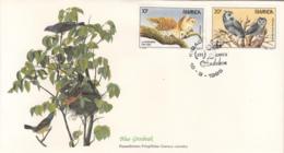 Rwanda 1985 FDC Scott #1226, #1227 Barn Owl, White-faced Owl Audubon Birds - Rwanda