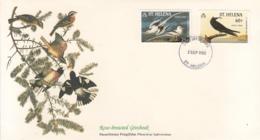St. Helena 1985 FDC Scott #440, #441 Tropic Bird, Noddy Tern Audubon Birds - Sainte-Hélène