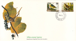 Niue 1985 FDC Scott #467, #468 Veery, Grasshopper Sparrow Audubon Birds - Niue