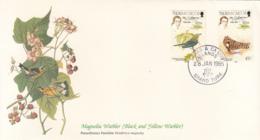 Turks And Caicos 1985 FDC Scott #651, #652 Magnolia Warbler, Short-eared Owl Audubon Birds - Turks & Caicos (I. Turques Et Caïques)