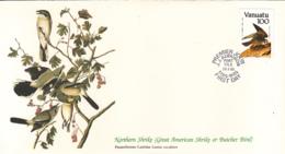 Vanuatu 1985 FDC Scott #391 Peregrine Falcon Audubon Birds - Vanuatu (1980-...)