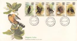 Swaziland 1985 FDC Scott #475 Strip Of 5 Ground Hornbill Audubon Birds - Swaziland (1968-...)