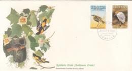 Uganda 1985 FDC Scott #453, #454 Sedge Warbler, Cattle Egret Audubon Birds - Ouganda (1962-...)
