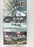 Liechtenstein Tarjeta Postal -Sello Y Matasello- Año 97  Incompleto  (12 Tarjetas.)  Según Foto - Liechtenstein