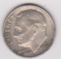 1968 D Stati Uniti - 10 C Circolata (fronte E Retro) - Emissioni Federali
