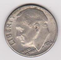 1974 Stati Uniti - 10 C Circolata (fronte E Retro) - Emissioni Federali