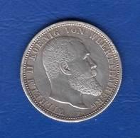2  Mark  1907  Wuert - [ 2] 1871-1918 : German Empire