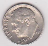 1981 Stati Uniti - 10 C Circolata (fronte E Retro) - Emissioni Federali