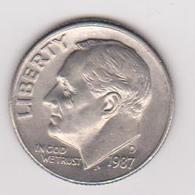 1987D Stati Uniti - 10 C Circolata (fronte E Retro) - Emissioni Federali