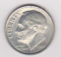 1988D Stati Uniti - 10 C Circolata (fronte E Retro) - Emissioni Federali