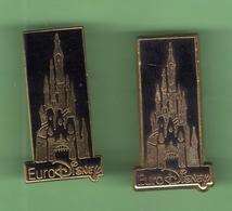 EURODISNEY *** CHATEAU *** Lot De 2 Pin's Differents ***  0088 - Disney