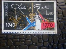 France Variétés-Curiosités,Variété NON Dentelé Sur 3 Cotés Timbre De Gaulle NSG 1940/1970-Lettre Document Marcophilie - Variétés: 1921-30 Lettres & Documents