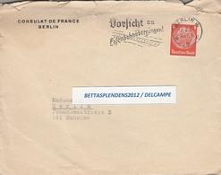 LSC 1937 - Entête CONSULAT De FRANCE à BERLIN - Cachet BERLIN Sur YT 446 - Germany