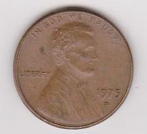 1975D Stati Uniti - 1 C Circolata (fronte E Retro) - 1959-…: Lincoln, Memorial Reverse