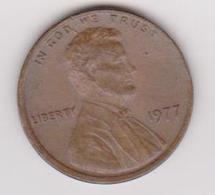 1977 Stati Uniti - 1 C Circolata (fronte E Retro) - 1959-…: Lincoln, Memorial Reverse