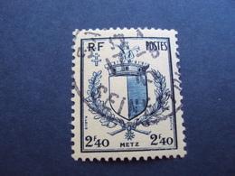 """1945-timbre Oblitéré N° 734 """" Blason De Metz""""  Cote 0.30 Net 0.10 - France"""