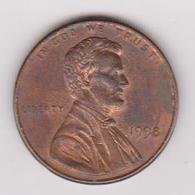 1998 Stati Uniti - 1 C Circolata (fronte E Retro) - 1959-…: Lincoln, Memorial Reverse