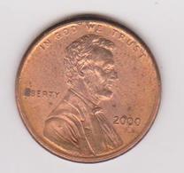 2000 Stati Uniti - 1 C Circolata (fronte E Retro) - 1959-…: Lincoln, Memorial Reverse