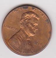2015 Stati Uniti - 1 C Circolata (fronte E Retro) - 1959-…: Lincoln, Memorial Reverse
