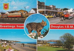 Postcard Douglas Isle Of Man Multiview PU Peel 1995 Stamps Invalid 38p To Pay My Ref  B23177 - Isle Of Man