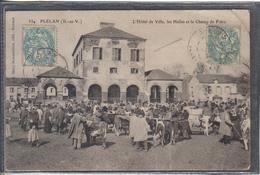 Carte Postale 35. Plélan  Champ De Foire Très Beau Plan - France