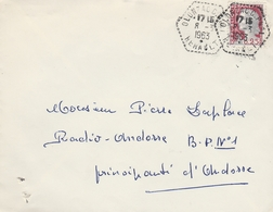 LSC 1963 - Cachet Hexagonal Perlé  OLONZAC  (Herault) - Aushilfsstempel
