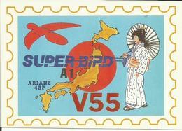 Autocollant Lancement ARIANE V55 Du 1 Décembre 1992 - CLUB PHILATELIQUE DE KOUROU - ESPACE - Aufkleber