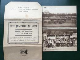 Liège-Luik/-Fête Militaire De Liège-Stade De Rocour 7 Et 14 Juin 1931-carnet Complet De 10 Cpa - Liege